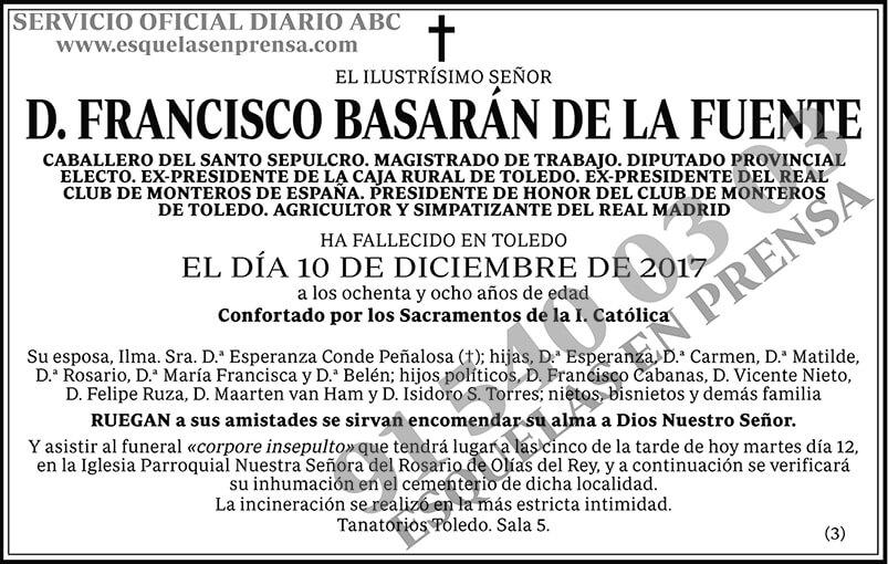 Francisco Basarán de la Fuente
